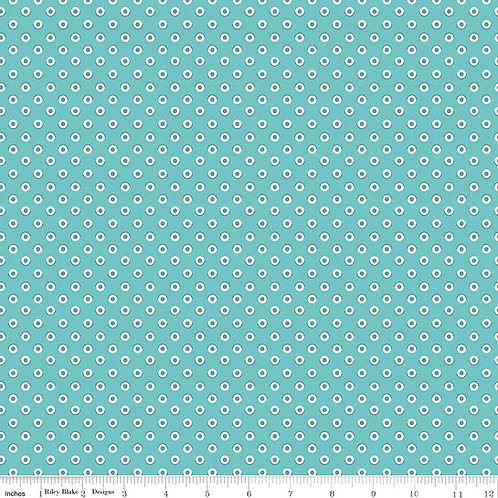 Flea Market C10215C Blue Dots Lori Holt  Riley Blake
