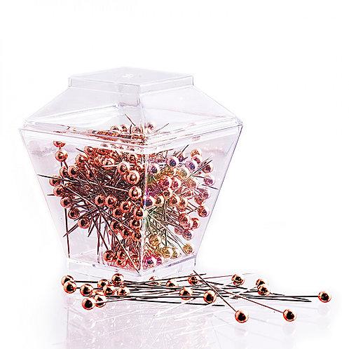 Rose Gold Head Pins