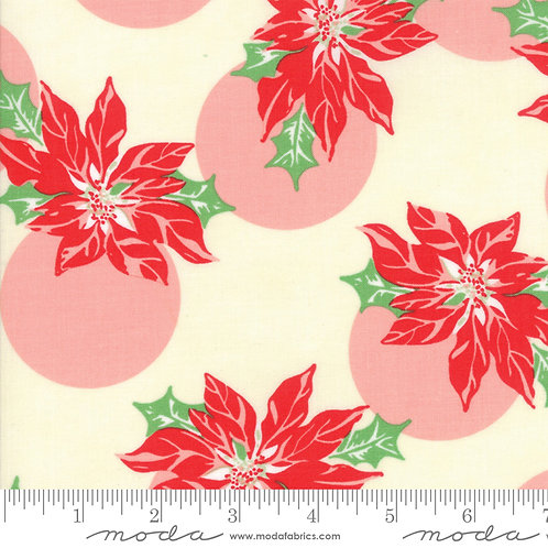 Swell 31121 11 Red Pink Poinsettia Moda Urban Chicks