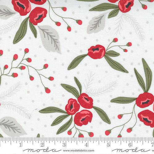Christmas Morning 5140 11 White Floral Moda Lella Boutique