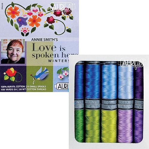 Aurifil Thread LOVE IS SPOKEN WINTER 10 spools 28wt