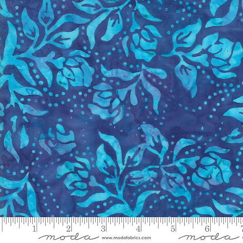 Bahama Batiks 4352 16 Blue Floral Moda