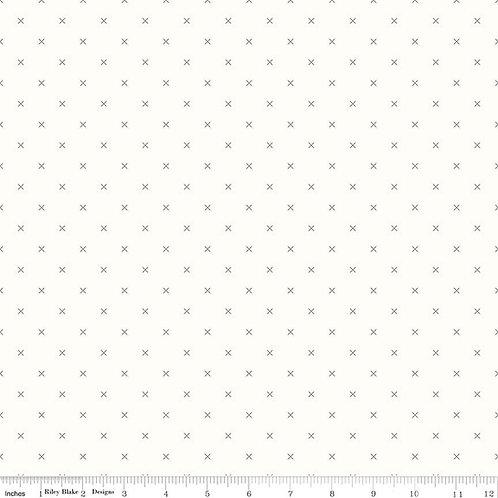 Bee Cross Stitch C6381G Gray Lori Holt  Riley Blake