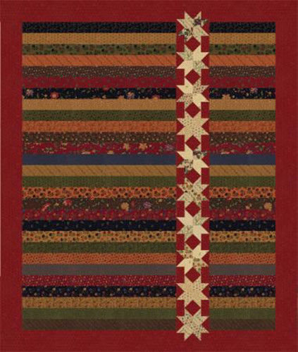 Kansas Trouble STARS ON A ROLL Jelly Roll Quilt Pattern