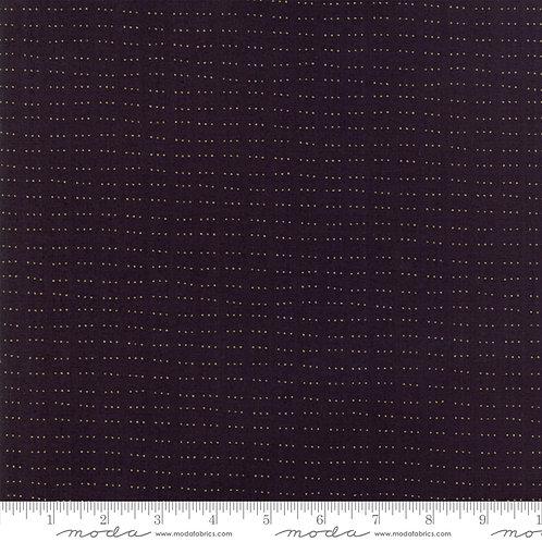 White Christmas Metallic 1654 23M Black Gold Dots