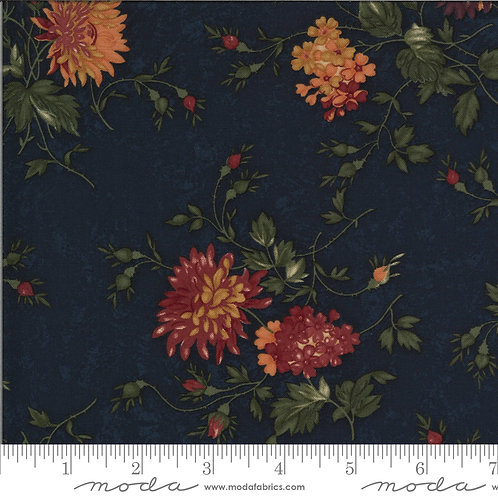 Bittersweet Lane 9640 14 Navy Blue Floral Moda Kansas Trouble