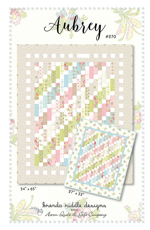 Brenda Riddle AUBREY Jelly Roll Pattern