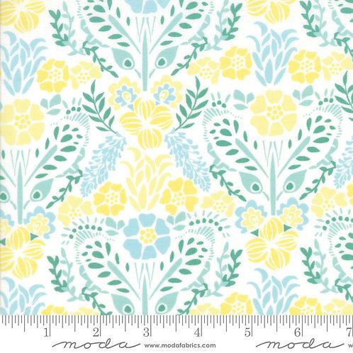 Grand Canal 27253 23 Aqua Green Yellow Floral Moda Kate Spain