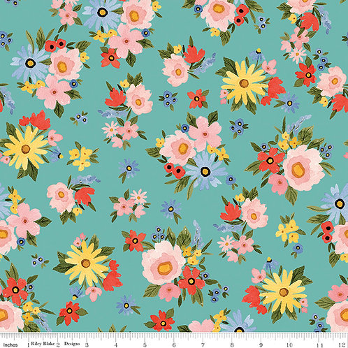 Beautiful Day C10690S Seaglass Floral Riley Blake