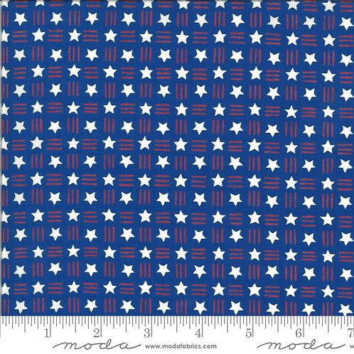 American the Beautiful 19987 14 Blue Stars Moda Deb Strain