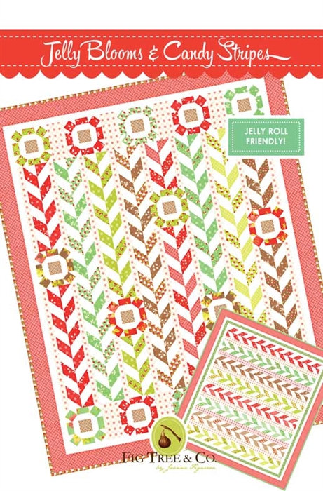 Fig Tree JELLY BLOOMS & CANDY STRIPES Jelly Roll Pattern