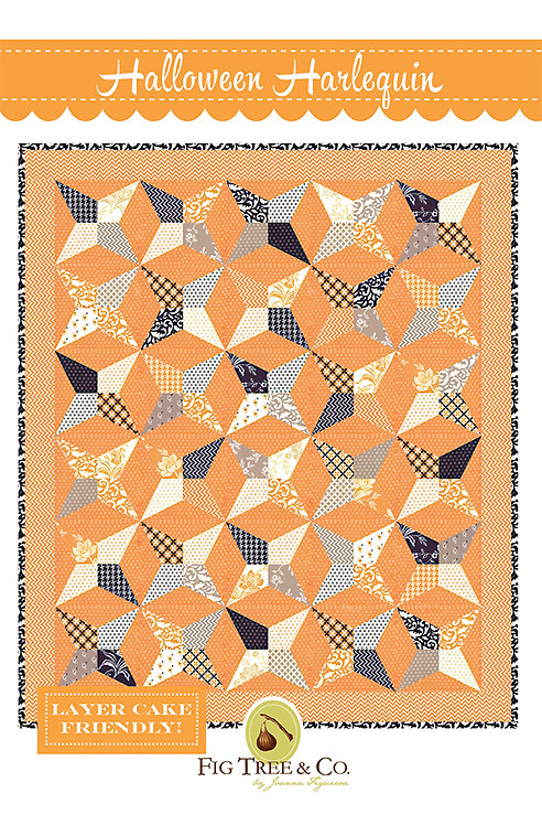 Fig Tree HALLOWEEN HARLEQUIN Layer Cake Pattern