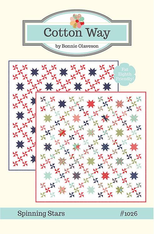 Cotton Way SPINNING STARS Fat Quarter Pattern