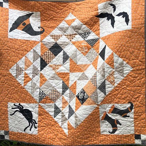 All Hallow's Eve SPELLBOUND Moda Quilt KIT Fig Tree