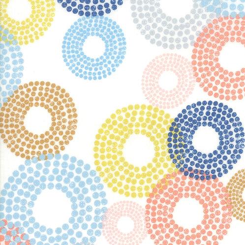 Breeze 1690 11 White Multi Circles Zen Chic