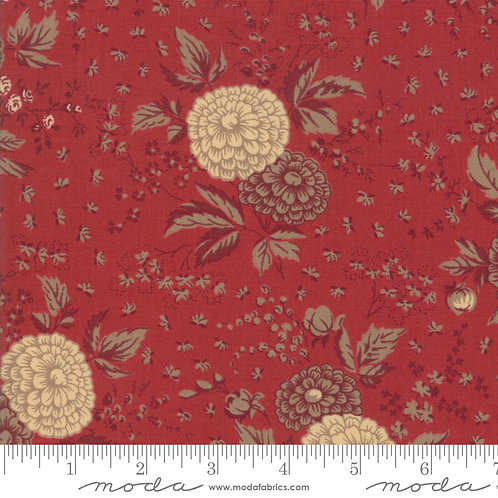 Le Beau Papillon 13862 12 Red Beige Floral Moda French Genera