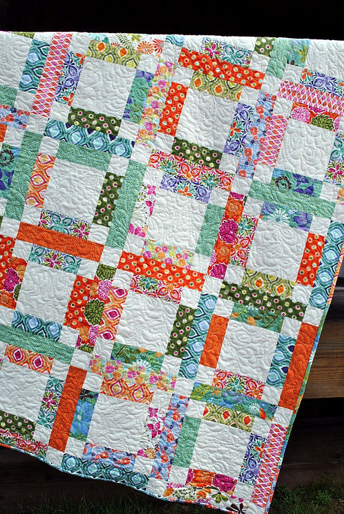 Sweet Jane's GRANDMA MARY'S FIVE PATCH Jelly Roll Pattern