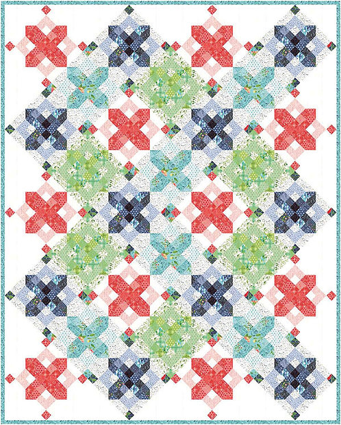 One Canoe Two SNOWFLAKES Jelly Roll Pattern