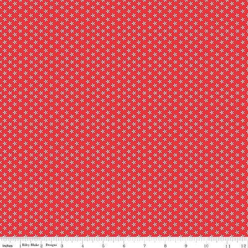 Bee Basics C6403R Red Daisy Lori Holt  Riley Blake
