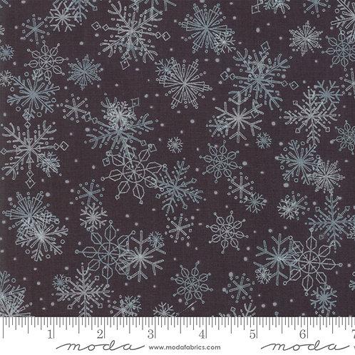Splendid 48653 18 Black Snowflakes Moda Robin Pickens