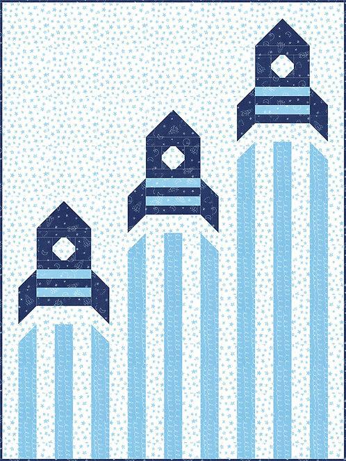Soft & Sweet Flannel 123 BLAST OFF Moda Stacy Hsu Quilt Kit