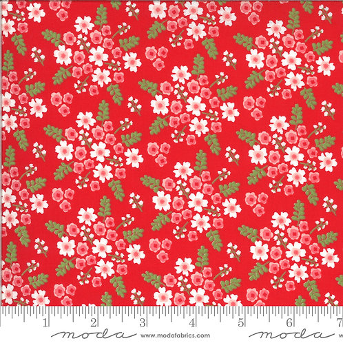 Homestead 24092 14 Red Floral Moda April Rosenthal