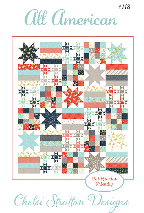 A Quilting Life ALL AMERICAN Fat Quarter Pattern