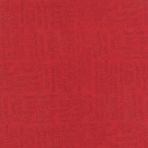 JOL 39702 16 Red Script Moda Northern Quilts