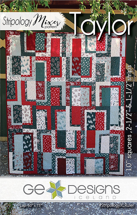 Stripology Mixes TAYLOR Jelly Roll Pattern