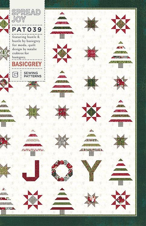 Basic Grey SPREAD JOY Fat 1/8th Christmas Pattern