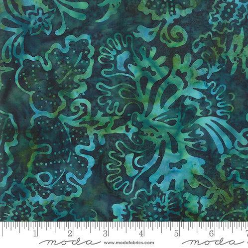 Bahama Batiks 4352 37 Green Floral Moda