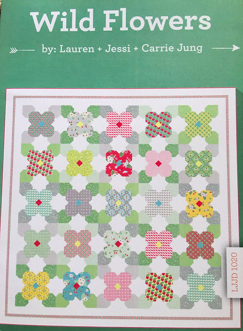Bumble Berries WILDFLOWERS Layer Cake Pattern