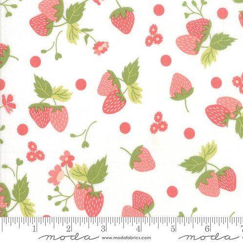 Strawberry Jam 29062 11 White Strawberries Moda  Corey Yoder