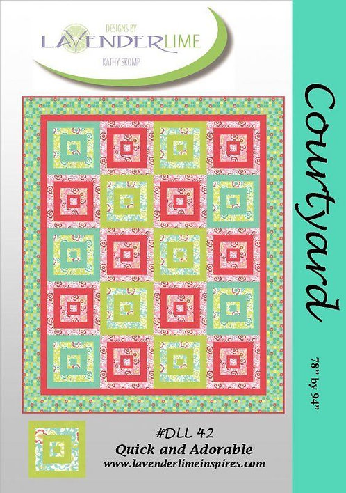 Lavender Lime COURTYARD Pattern