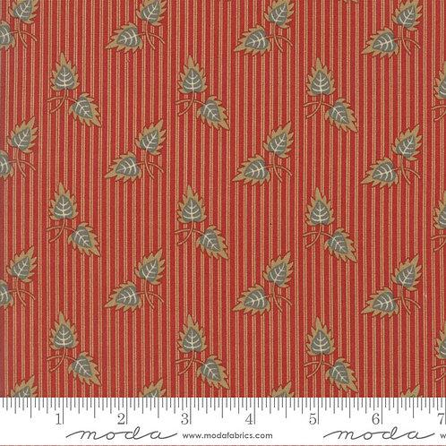 Gratitude 38001 11 Red Stripe Leaves Moda Jo Morton