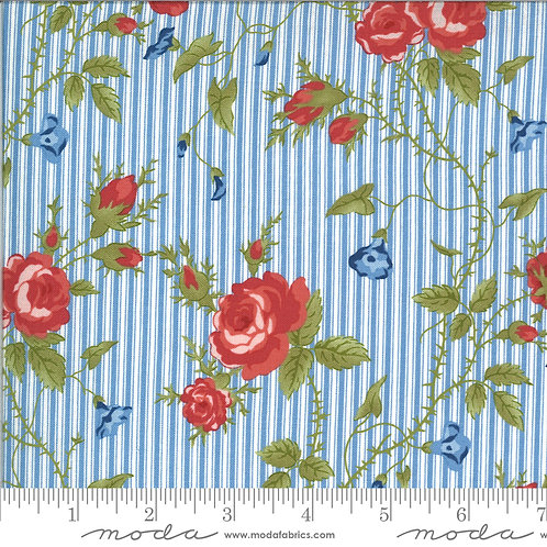 Harbor Springs 14900 12 Blue Floral Striped Minick & Simpson
