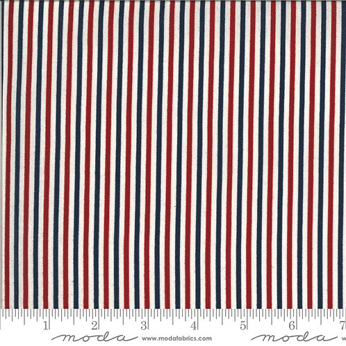 American Gathering 49121 11 Red Blue Striped Moda Primitive Gath