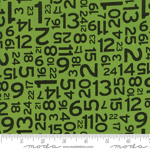 Hometown Christmas 5665 27 Green Black Numbers Moda Sweetwater Sweetwater Moda