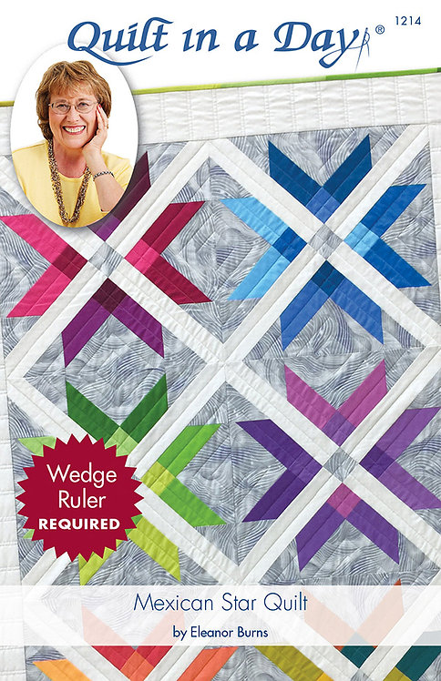Eleanor Burns MEXICAN STAR Jelly Roll Booklet + 3 other patterns