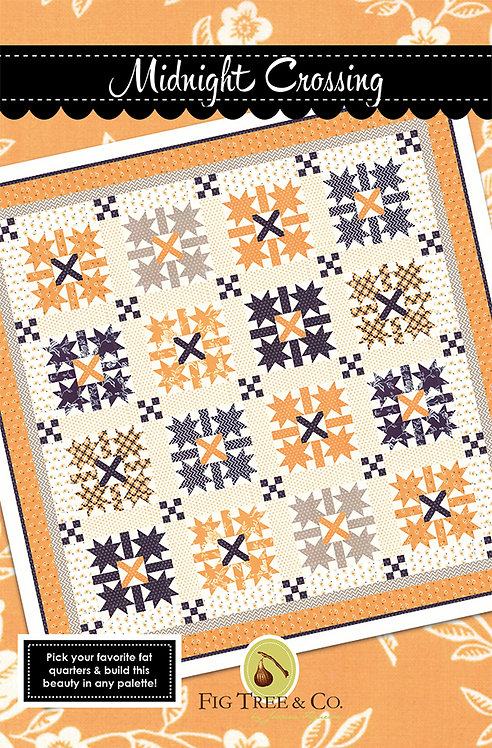 Fig Tree MIDNIGHT CROSSING Fat Quarter Pattern