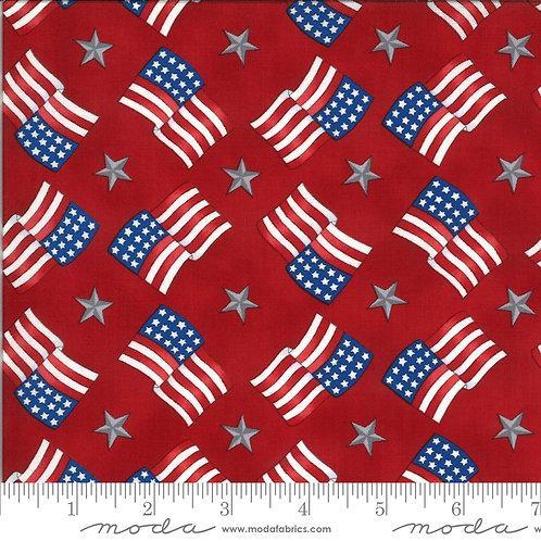American the Beautiful 19986 11 Red Flags Moda Deb Strain