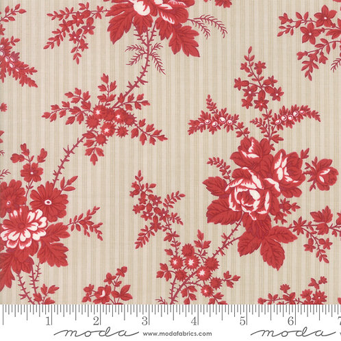 Northport 14880 13 Red Beige Floral
