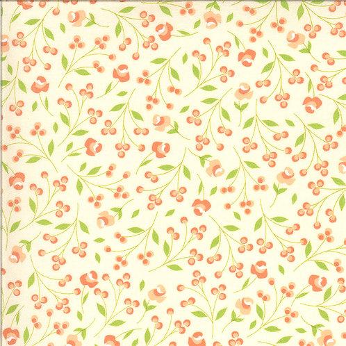 Apricot & Ash 29103 11 White Floral Moda Corey Yoder