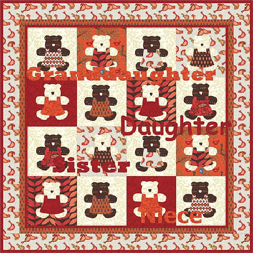 Coach House TEDDY BEAR PICNIC Pattern