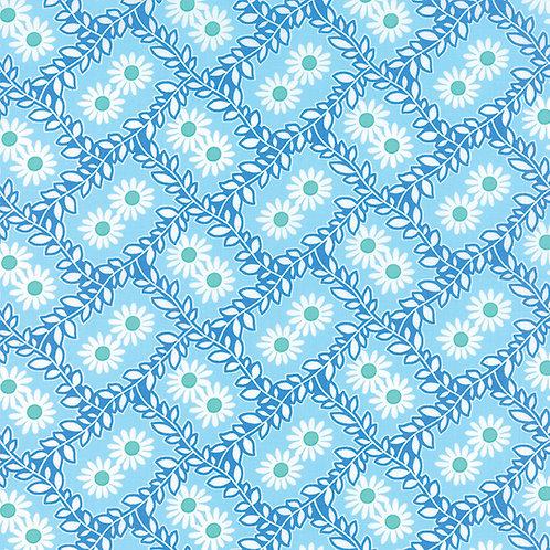 Bandana 22242 14 Blue Flora Moda