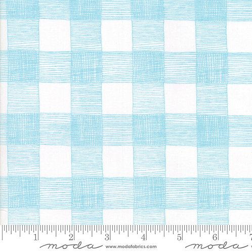 Farm Fresh 48265 23 White Blue Check Plaid Gingiber