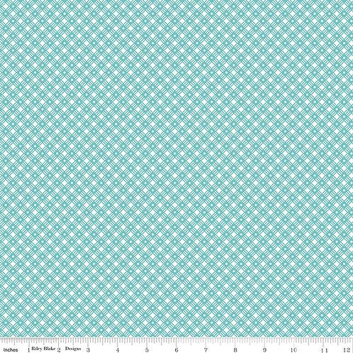 Flea Market C10221C Aqua Weave Lori Holt  Riley Blake