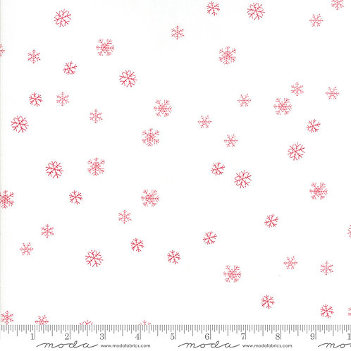 Sno 39725 12 White Red Snowflakes Moda Northern Quilts