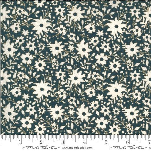 Cider 30645 18 Navy Blue Floral Moda BASIC GREY