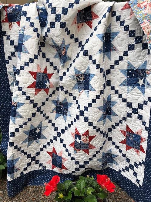 STARS ACROSS AMERICA Quilt Kit Moda MACKINAC ISLAND Minick & Simpson